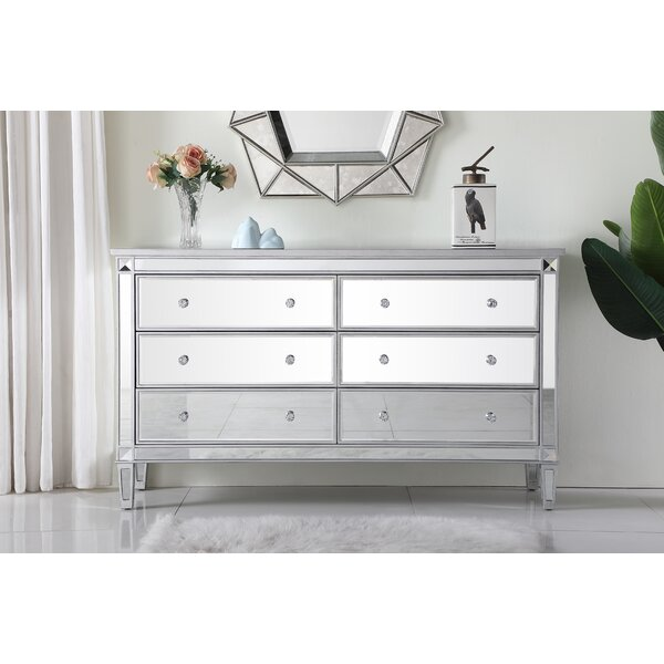 Sparks 6 Drawers Double Dresser by Prestige