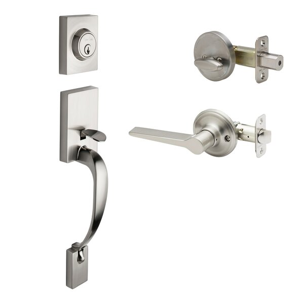 Rustic Modern Style Active Handleset with Lever Interior Trim by Copper Creek