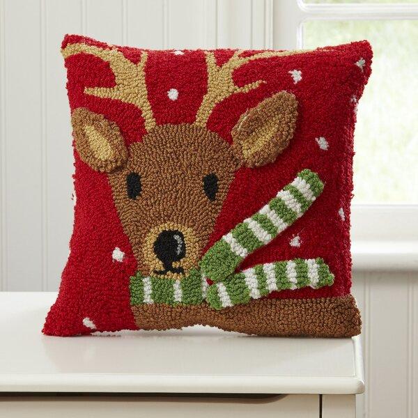 Reindeer Huggable Hooked Pillow by Birch Lane Kids™