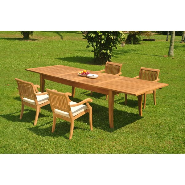 Masson 5 Piece Teak Dining Set by Rosecliff Heights