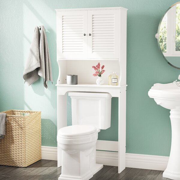 Ellsworth 27.4 W x 63.75 H x 9.25 D Free-Standing Over the Toilet Storage