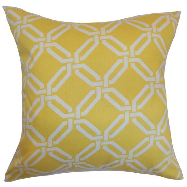 Ulei Cotton Throw Pillow by The Pillow Collection
