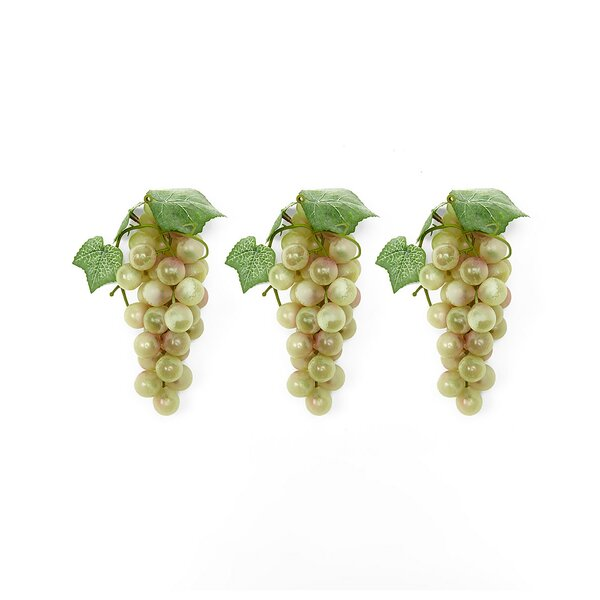 Soft Touch Faux Grape (Set of 3) by The Holiday Ai