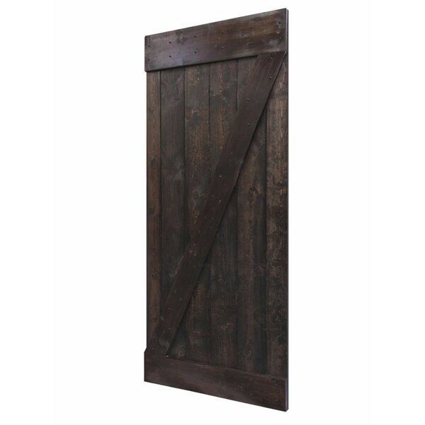 Solid Wood Panelled Pine Interior Barn Door by Calhome