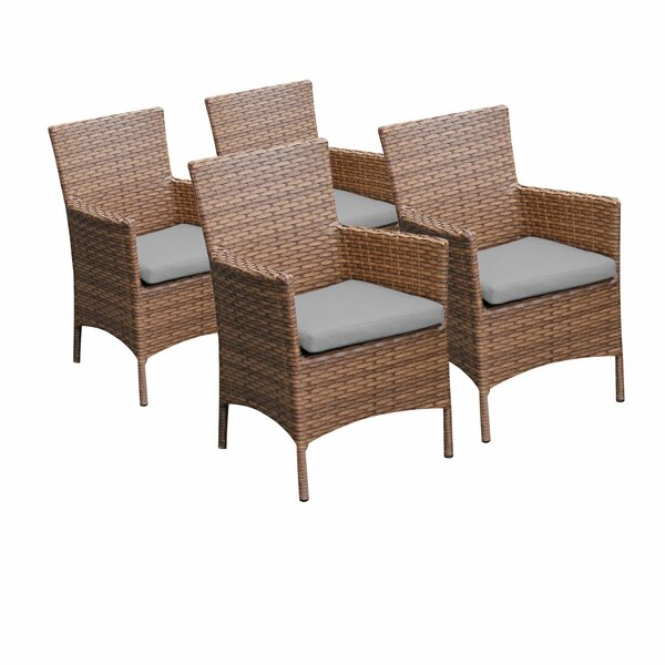 Laguna Patio Dining Chair with Cushion (Set of 4) by TK Classics