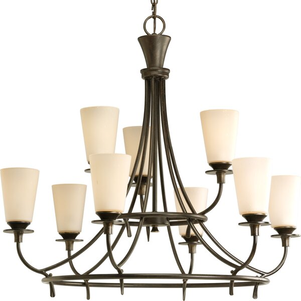 Risha 9-Light Shaded Tiered Chandelier by Red Barrel Studio Red Barrel Studio