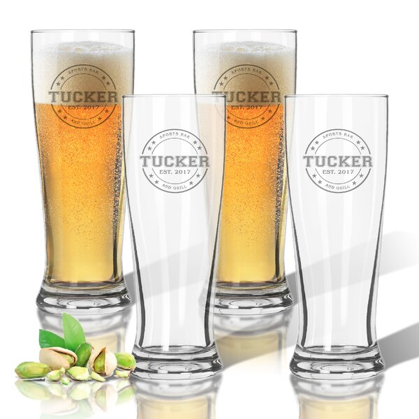 Tritan Collegiate Sports Logo 14 oz. Pilsner Glass (Set of 4) by Carved Solutions