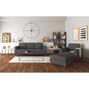 Tinney 3 Piece Standard Living Room Set by Corrigan Studio®