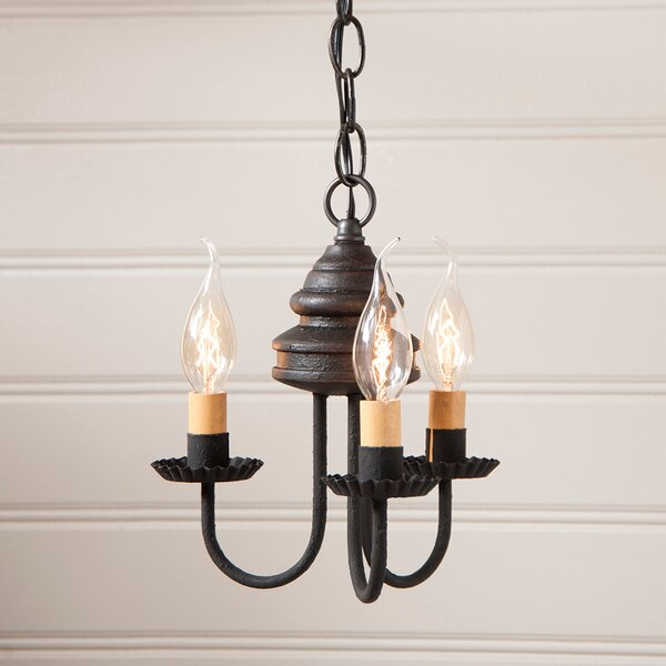 Whitehorn Wood 3-Light Candle Style Chandelier by Gracie Oaks