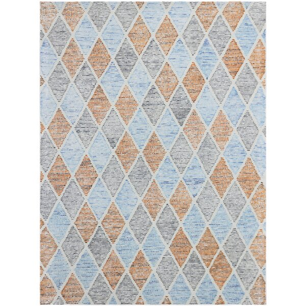 Callista Hand-Woven Wool Aqua Area Rug by Beachcrest Home