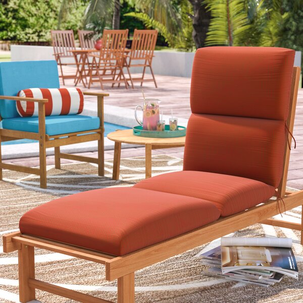 Kellner Indoor/Outdoor Sunbrella Chaise Lounge Cushion by Beachcrest Home