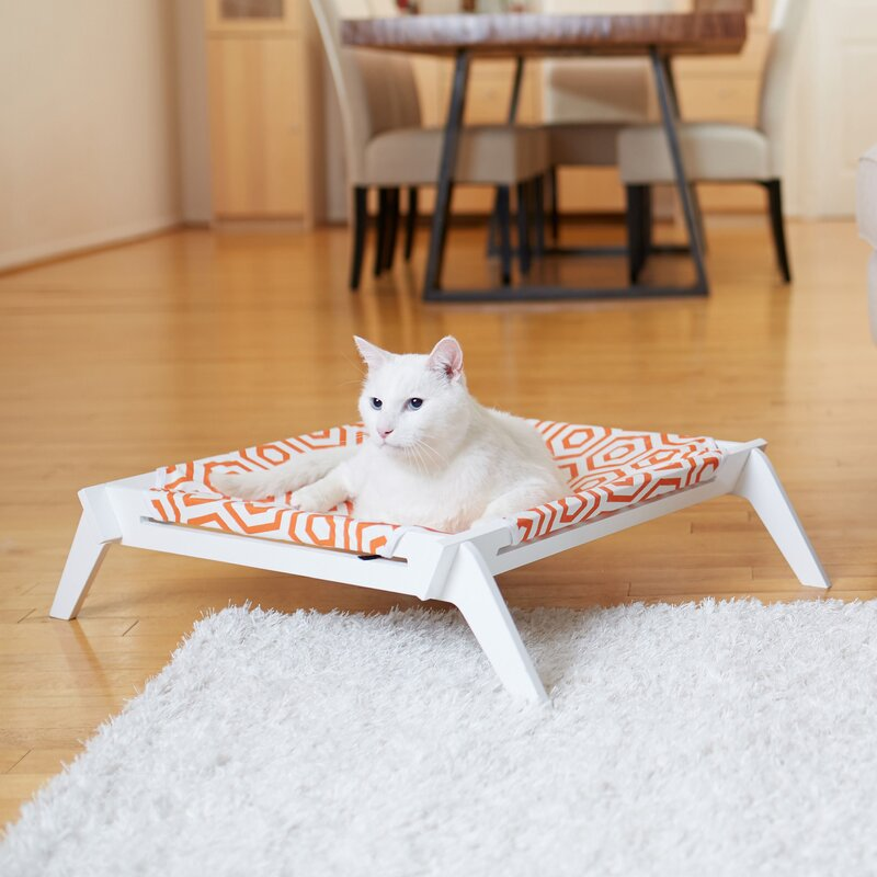 Regency Designer Pet Lounge Cot With Reversible Fabric Hammock