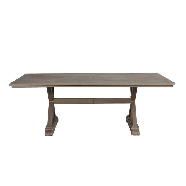 Potsdam Aluminum Dining Table by Gracie Oaks