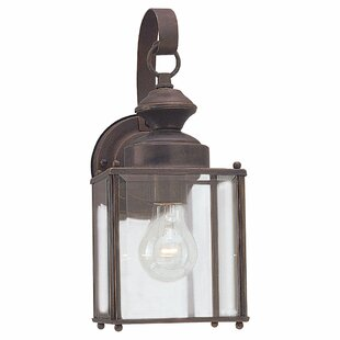 Comparison Amesville 1-Light Outdoor Wall Lantern By Three Posts