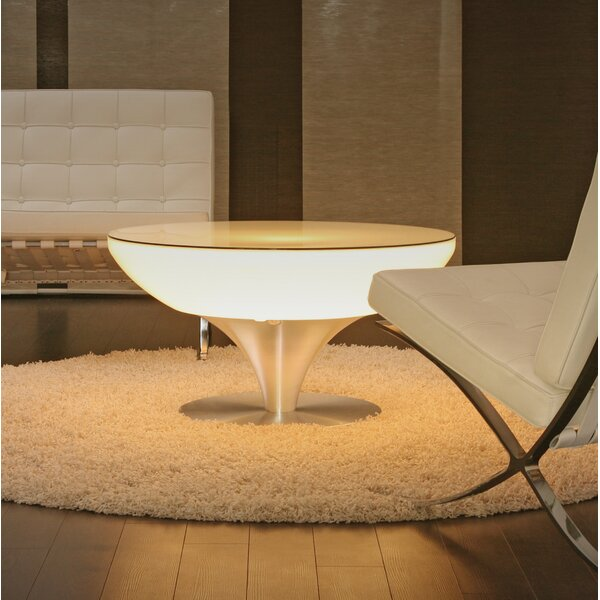 Micaela LED Plastic Coffee Table by Orren Ellis