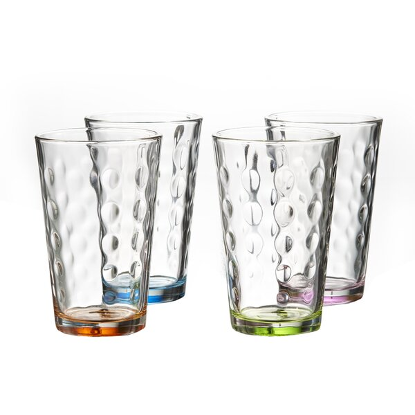 Olson Colored 14 oz. Highball Glass (Set of 4) by Winston Porter