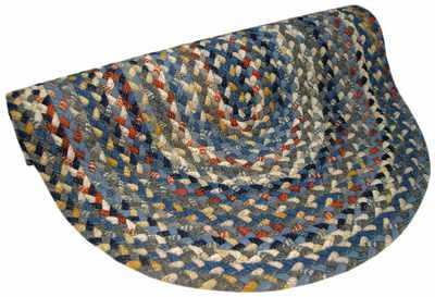 Beacon Hill Round Blue Area Rug by Thorndike Mills