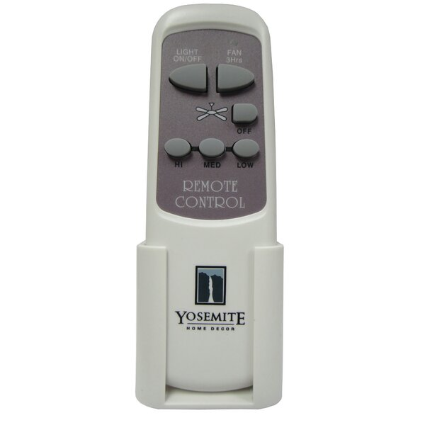 Canopy Remote Control for 7.4 Motor Fans by Yosemite Home Decor