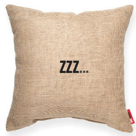 Pettis Zzz... Decorative Burlap Throw Pillow by Wrought Studio
