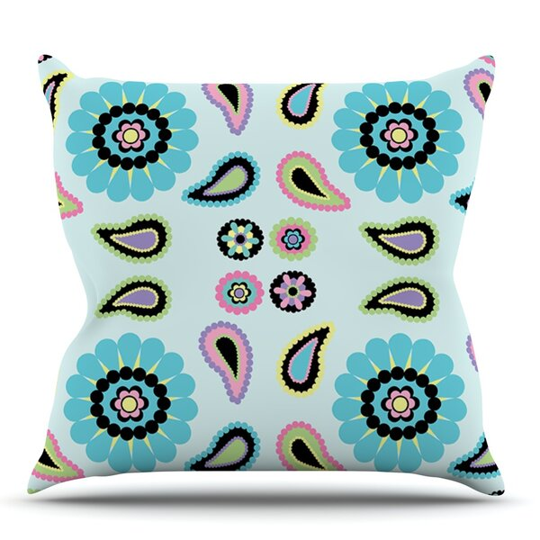 Paisley Candy by Nina May Outdoor Throw Pillow by East Urban Home