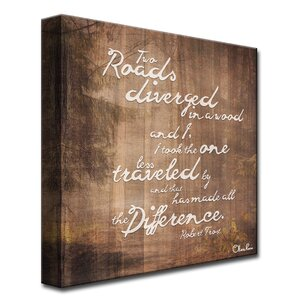 Robert Frost-Road Traveled by Olivia Rose Graphic Art on Wrapped Canvas by Ready2hangart