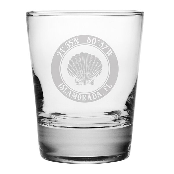 Galvez Seashell 14 oz. Glass Cocktail Glass (Set of 4) by Longshore Tides