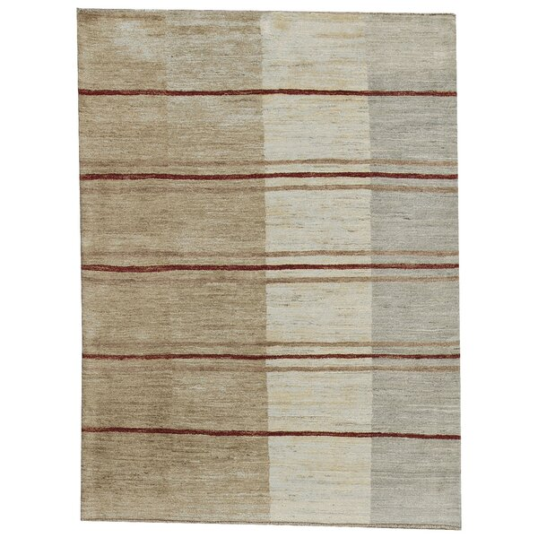 One-of-a-Kind Gabbeh Hand-Knotted Wool Light Ombre Area Rug by Bokara Rug Co., Inc.