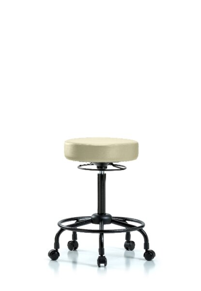 Cassian Round Tube Base Height Adjustable Lab Stool by Symple Stuff