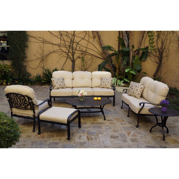 Shortridge 6-Piece Deep Set with Cushions and Pillows by Canora Grey