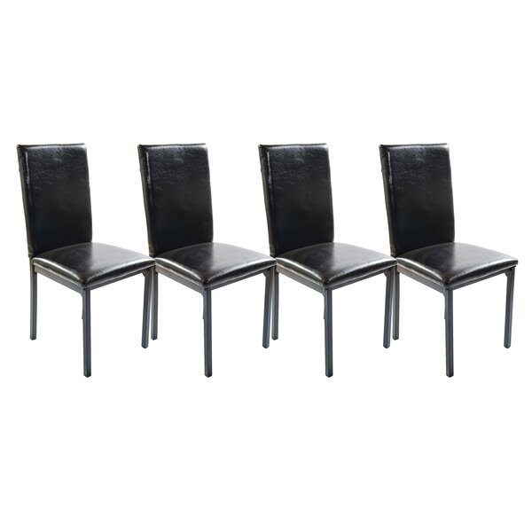 Della Upholstered Dining Chair (Set of 4) by Winston Porter