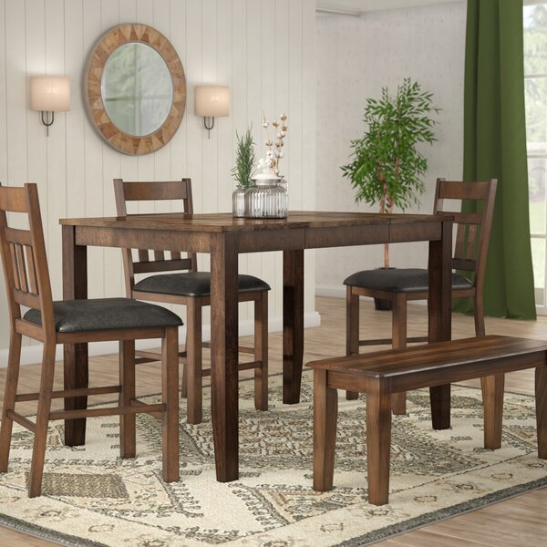 Osborne Square Gather Height Extendable Dining Table by Loon Peak Loon Peak