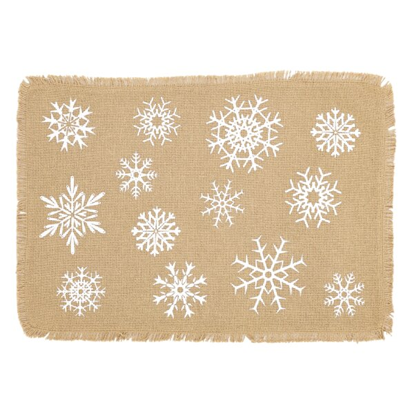 Snowflake Placemat (Set of 6) by The Holiday Aisle