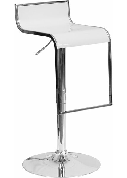 Whelan Adjustable Height Swivel Bar Stool by Orren Ellis