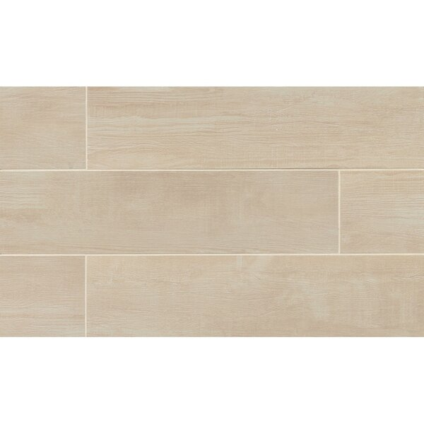 Hamptons 8 x 36 Porcelain Wood Tile in Sand by Grayson Martin