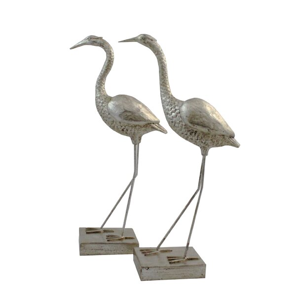 Crane 2 Piece Figurine Set by Import Collection