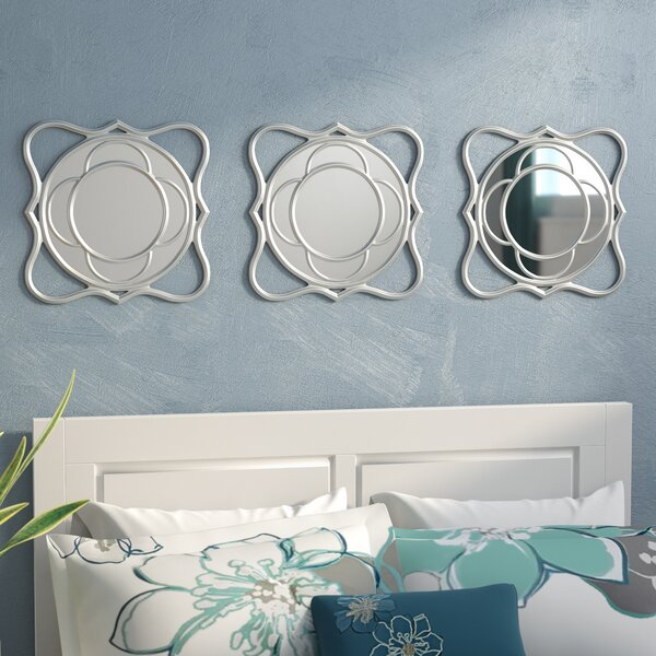 3 Piece Swirl Mirror Set (Set of 3) by Zipcode Design