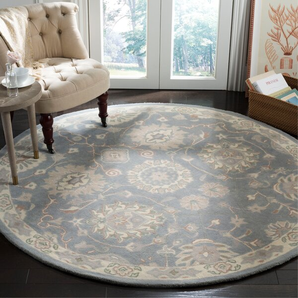 Moss Hand Tufted Wool Gray Area Rug by Bloomsbury Market