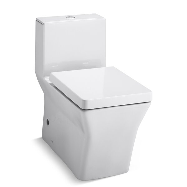 Rêve Comfort Height Skirted One-Piece Elongated Dual-Flush Toilet with Top Actuator by Kohler