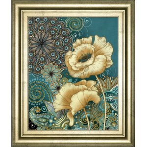 Inspired Blooms 2 by Conrad Knutsen Framed Graphic Art by Classy Art Wholesalers