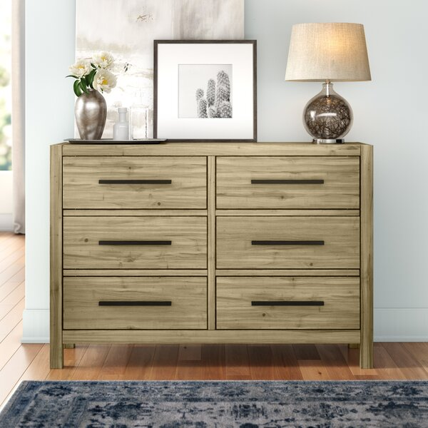Glynda 6 Drawer Double Dresser by Three Posts