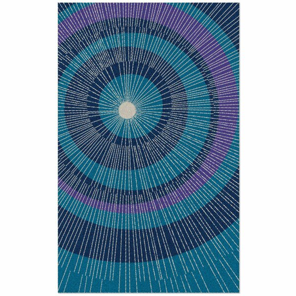 Eccentric Hand-Tufted Blue Area Rug by notNeutral