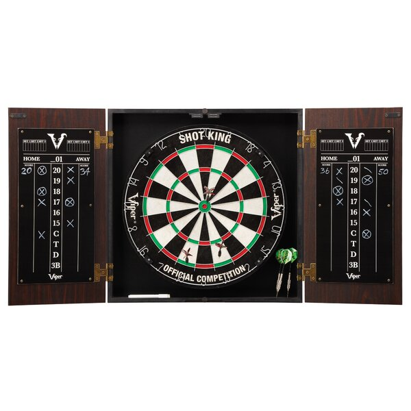 Stadium Dartboard and Cabinet Set by Viper