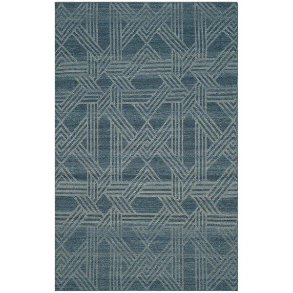 Delrio Hand-Woven Blue Area Rug by Brayden Studio