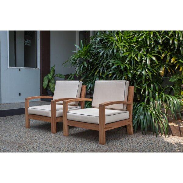 Severine Deep Seating Teak Patio Chair with Cushions by Bay Isle Home