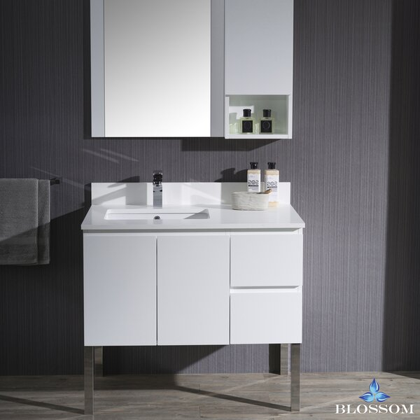 Maly 36 Single Bathroom Vanity Set with Mirror by Orren Ellis