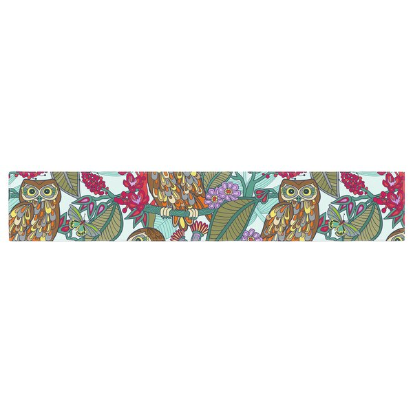 Julia Grifol My Bookbooks Owls Table Runner by East Urban Home