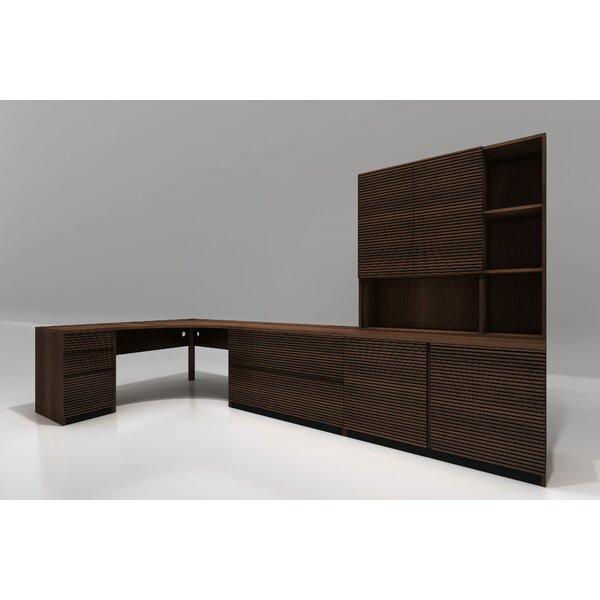 5 Piece L-Shape Desk Office Suite by Furnitech