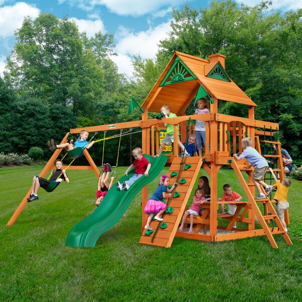 Navigator with Amber Posts Cedar Swing Set by Gorilla Playsets