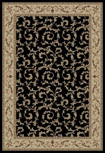 Jewel Veronica Black Floral Area Rug by Threadbind