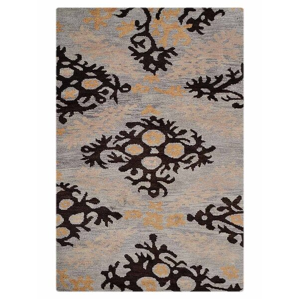 Ry Hand-Knotted Wool Beige/Blue Area Rug by Latitude Run